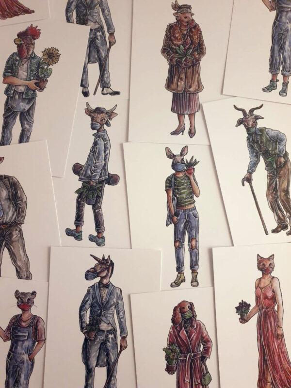 amvspreckelsen Illustration & Design Hamburg, alle postkarten motive
