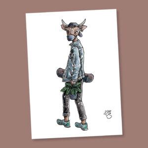 Postkarte Ben der Bulle