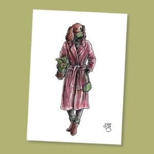 Postkarte Hazel die Hündin