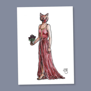 Postkarte Kacy die Katze
