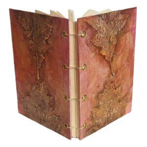 Buch A6 Blätter gold-orange