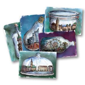 Postkarte Hamburger Dom
