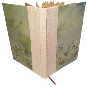 Buch A6 grün floral
