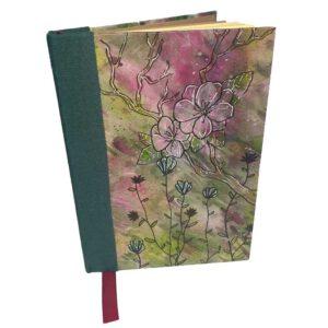 Buch A5 floral grün-violett