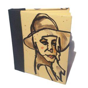 Buch Oneline Frau mit Hut